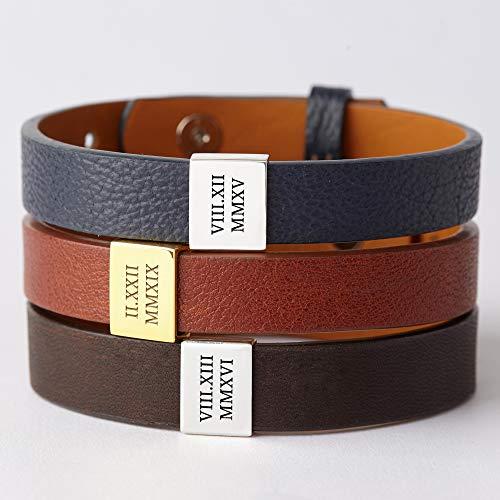 Gift For Her Birthday Gift 50th Birthday Gift for Women Handmade Bracelet Roman Numeral Bracelet