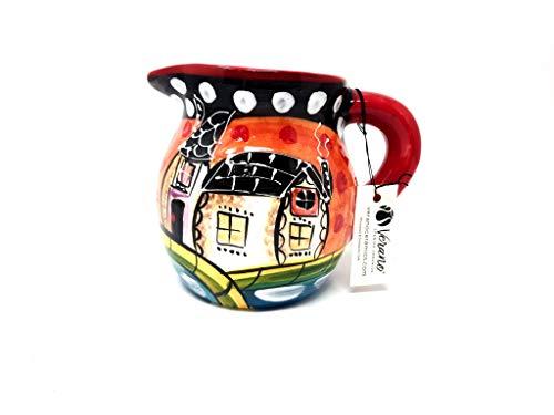 Verano Spanische Keramik Picasso – Runder Krug, 15 cm hoch