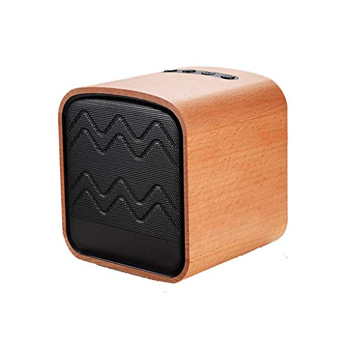Bluetooth luidspreker, houten mini draagbare TFcard FM-radio 10 W draadloze subwoofer HD audio en geluid bot 8 uur spelen