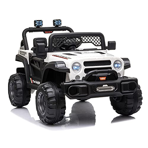 JIMIPARK Ride On Truck, Ride on Car with Remote Control 12V , Off-Road UTV, Motorized Vehicles with Music, Story, Solid Seat Belt, Wearable Wheels, 3 Speed, Spring Suspension, LED Light for Kids 3-6 -  JIMUPARK, JIMU15124841