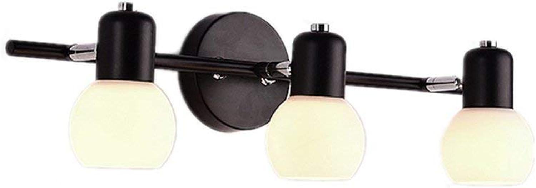Badezimmer Spiegel vorne Licht,E14 Glühbirne Badezimmer LED-Spiegel vorne Licht moderne Schlichtheit Retro Wandleuchte Spiegelschrank Lichter, keine Lichtquelle - Diese Leuchte Kappe gedreht