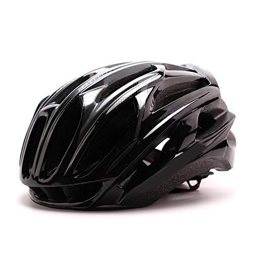 SFBBBO Casco Bici Casco da Ciclismo MTB Ultralight 185g Casco da Bici da Corsa da Città Casco da Bicicletta da Montagna Integralmente Modellato M54-58cm Nero