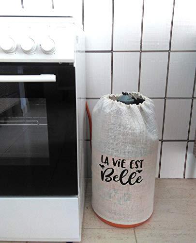 clasificación y comparación Estuche para botellas de belbutano Raviest yute blanco para casa