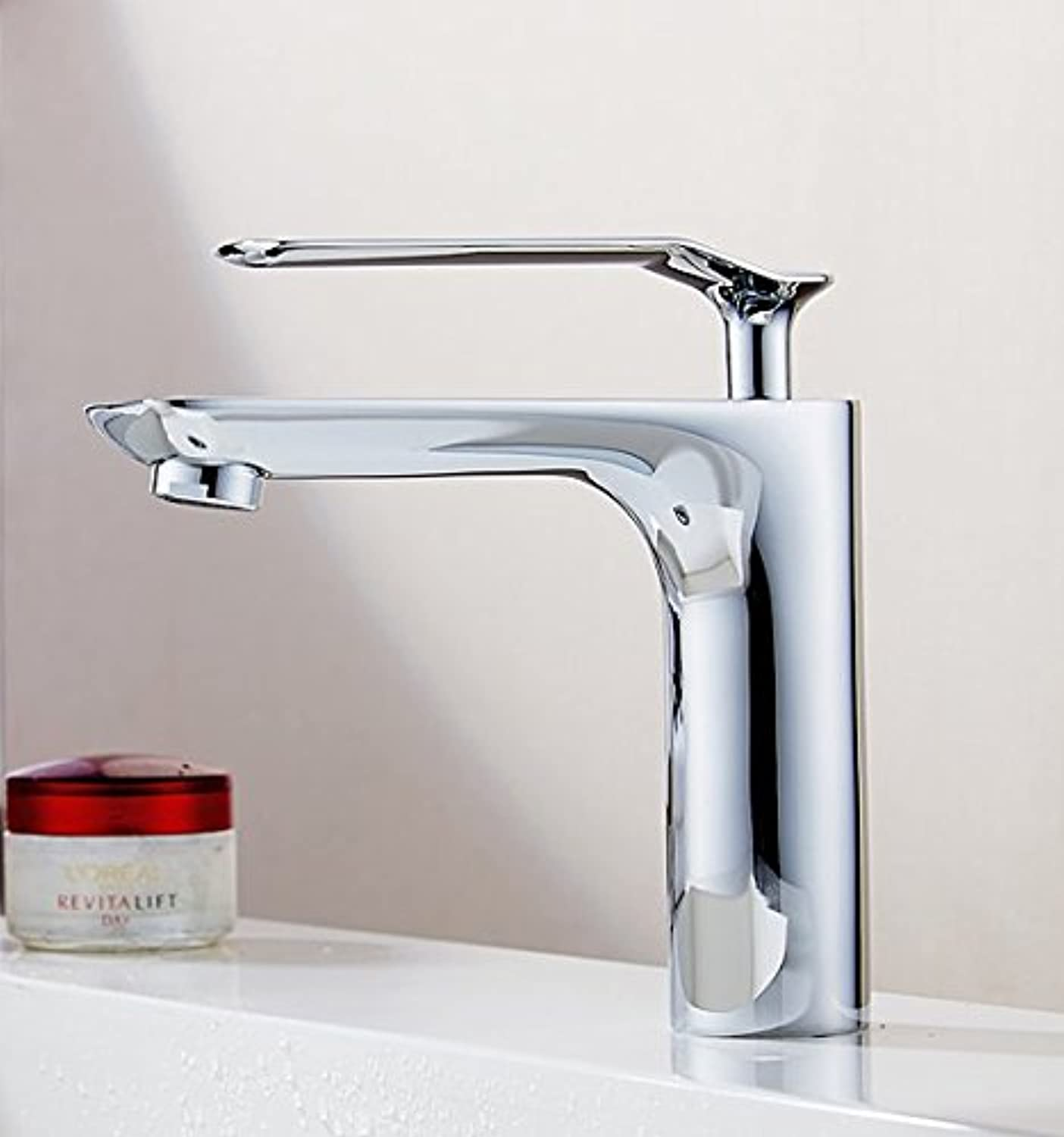 Diongrdk All Copper Single Hole European Basin Basin Faucet Cold and Hot Faucet Single Bath Single Bath Basin