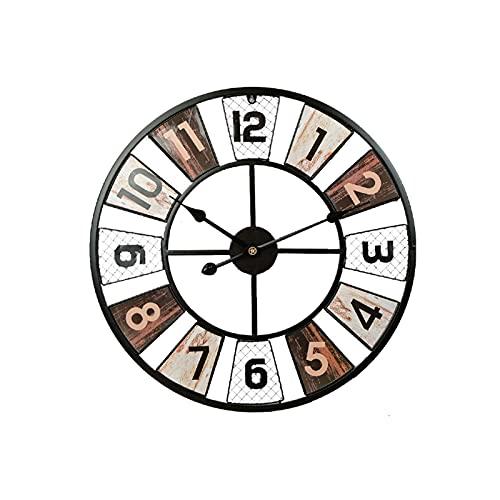 XBYUNDING Relojes de jardín al aire libre impermeable,Reloj Retro de hierro forjado Relojes al aire libre para el jardín Montado en la pared Ornamento Reloj a prueba de intemperie Decoración al aire l