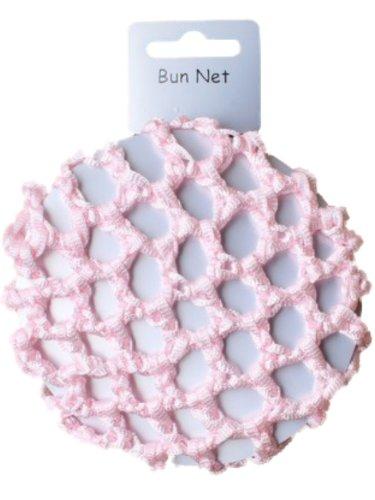 Girls Pink Knotted Ribbon Bun Hair Net - Dancewear Ballet Bridal Accessories by Pritties Accessories