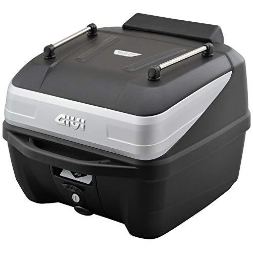 GIVI (ジビ) バイク用 リアボックス 32L 未塗装ブラック シルバーパネル モノロックケース オプション付き(インナーボトムマット/バックレスト/ネット/レール) B32N-ADV 99811