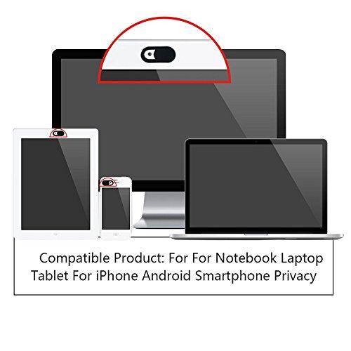 Cámara web visión Cover Cámara Protectora Protección para ordenador portátil, PC, Tablet, Smartphone, TV, Espionaje Protección Funda Accesorios Color Blanco
