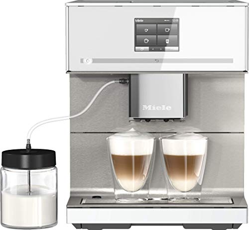 Miele CM 7550 Kaffeevollautomat (Smartphone bedienbar mit WiFiConnect, Kaffeemaschine mit vollautomatischer Entkalkung) weiß