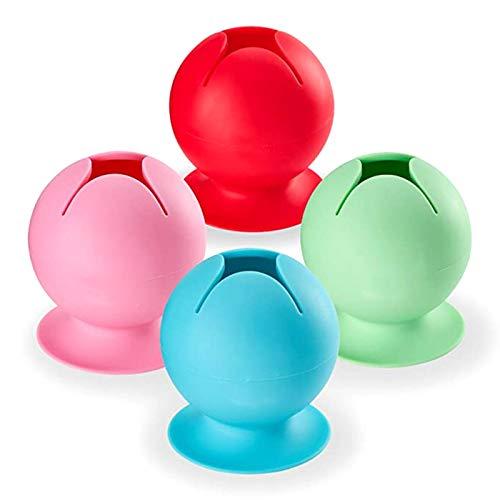 Phoetya - Protector de goma para bañera, cocina, baño, filtro de embudo, 4 colores, 4 piezas, cubierta de drenaje de ducha duradera