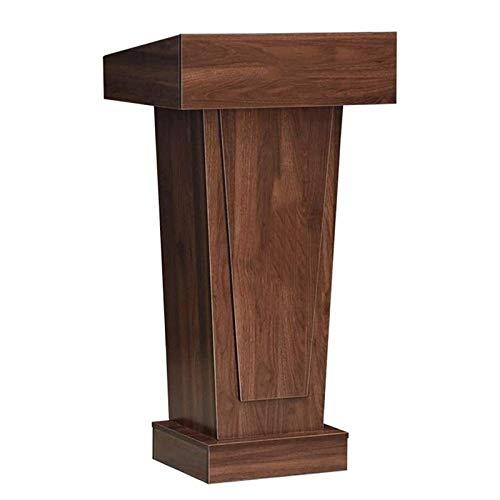 JHSHENGSHI Lectern Classroom Lecture Speech Teach Platform Stehendes Lectern Podium Kirchenkanzel Oder Zeremonie Für Die Präsentation Der Kirchenschule Rot-Braun