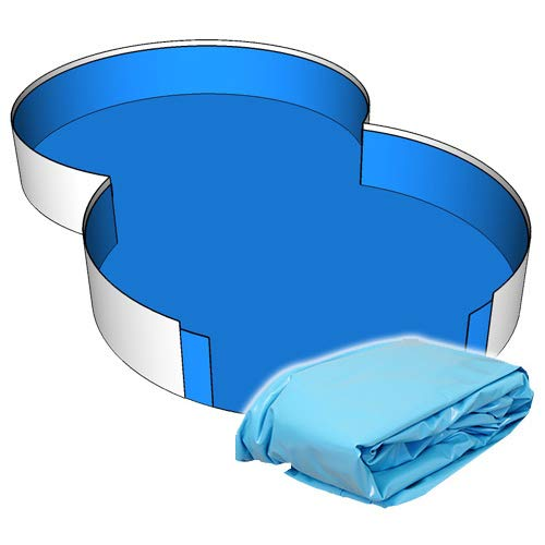 Poolfolie Innenhülle Achtform Pool 725 x 460 x 120 cm - 0,6 mm blau Achtformbecken