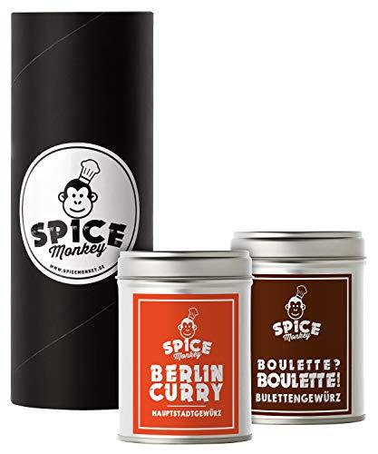 Berlin Klassiker Gewürze, Berlin Curry und Gewürz für Bulette, Set in Geschenkbox