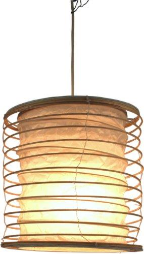 Guru-Shop Faltbarer Lampenschirm/Deckenlampe/Deckenleuchte Malai 30, Handgemacht in Bali, Baumwolle, Weiß, Rattan, Farbe: Weiß, 30x25x25 cm, Orientalische Deckenlampen