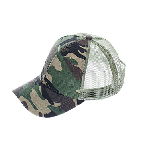 Kaniem Baseballmütze Unisex Camouflage Ball Cap Dad Hat Mesh Atmungsaktiv Outdoor Running Caps Hats - Grün - Einheitsgröße