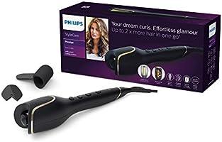 Wymarzone loki 2 razy więcej włosów za jednym razem* Automatyczna lokówka Philips StyleCare Prestige sprawia, że...