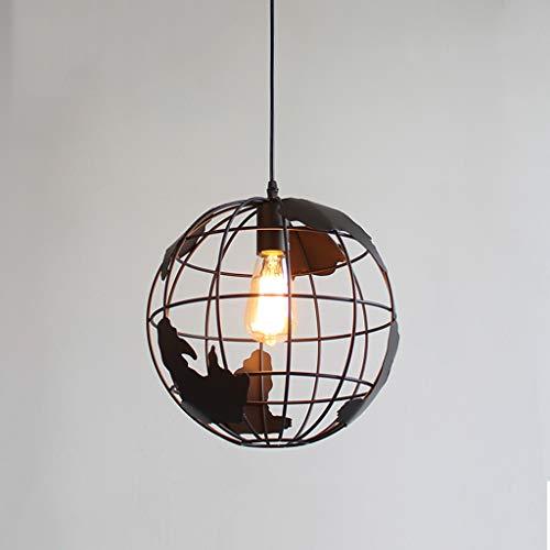JLXW Keuken plafondlamp, landelijke industrie hanglampen armaturen met E27 fitting smeedijzeren kroonluchter hanglamp voor hal eetkamer