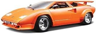 Bburago 2011 Bijoux 1:24 Scale Orange Lamborghini Countach 5000 Quattrovalvole