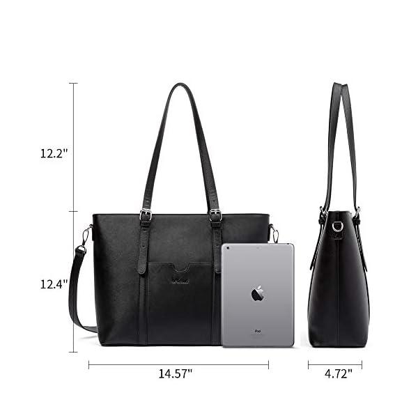 BROMEN Women Briefcase 15.6 inch Laptop Tote Bag Vintage Leather Handbags Shoulder Work Purses 4