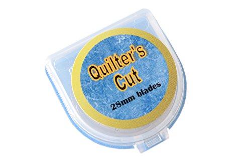 Quilter's Cut 28mm Rotary Blades, 12 Pack, Fits Olfa, Fiskars, Martelli, Truecut
