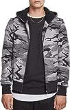 Urban Classics Herren Camo Zip Jacket Jacke, Mehrfarbig (Darkcamo 00707), M