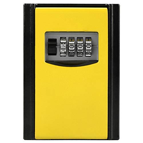 Beveiligingssleutelbox 4 cijfercombinatie wachtwoord sleutel opbergdoos muur gemonteerd veiligheidsslot gereedschap