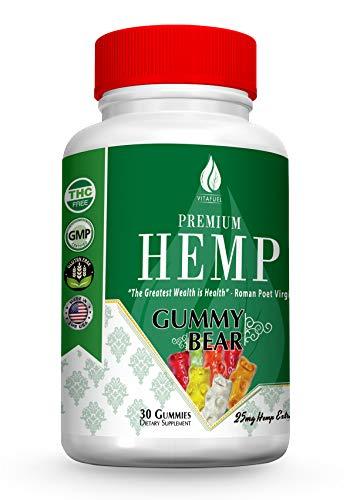 Hemp Gummy Bears - Hemp Gummies for Pain and Anxiety -100% Organic Natural Organic Hemp Extract -30 Count- 750MG- 25mg Each- Made in USA – #1 Hemp Edible Gummie – Anxiety Relief, Improve Sleep & Relax