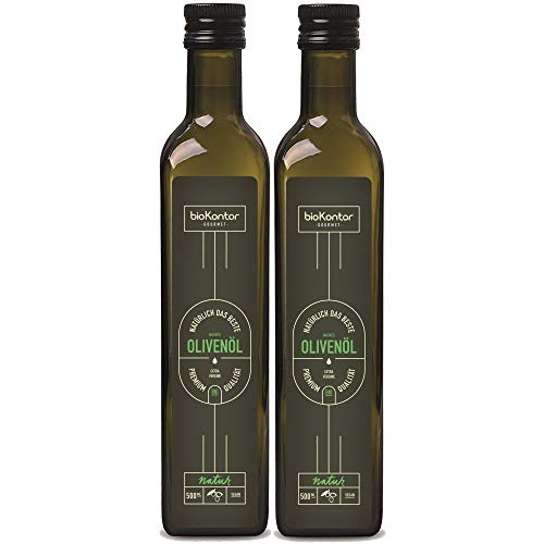 Olivenöl BIO extra vergine nativ 2x 500 ml (1000 ml) I fruchtig - wenig Säure | aus Italien | biokontor Gourmet