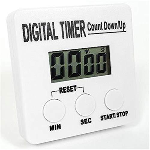 QWER 60 Minutes Compte à rebours mécanique minuterie électronique minuterie numérique pour la Cuisine/Cuisine Accessoires de Cuisine,White,1pc