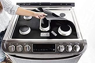 StoveGuard Stove Protectors for GE General Electric Gas Ranges | Custom Cut | Ultra Thin Easy Clean Stove Liner | Made in the USA | Model JGB700EEJ4ES