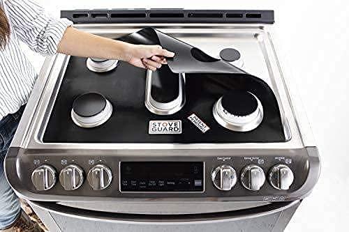 StoveGuard – Protectores de estufa compatibles con las gamas de gas Samsung– Ultradelgado y fácil de limpiar – Solo tienes que elegir tu número de modelo