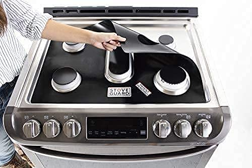 StoveGuard Stove Protectors for KtichenAid Gas Ranges | Custom Cut | Ultra Thin Easy Clean Stove Liner | Made in the USA | Model KGRS505XSS05