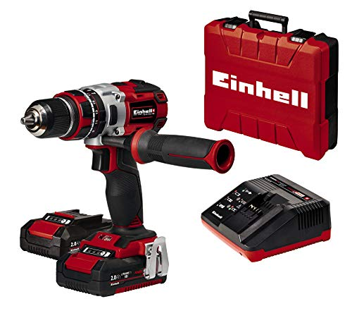 Einhell Cordless Impact Drill Driver TE-CD 18 Li-i BL Power X-Change (Lithium-Ion, Brushless Motor, Incl. Two 2.0 Ah PXC Batteries and High-sSeed Battery Charger)