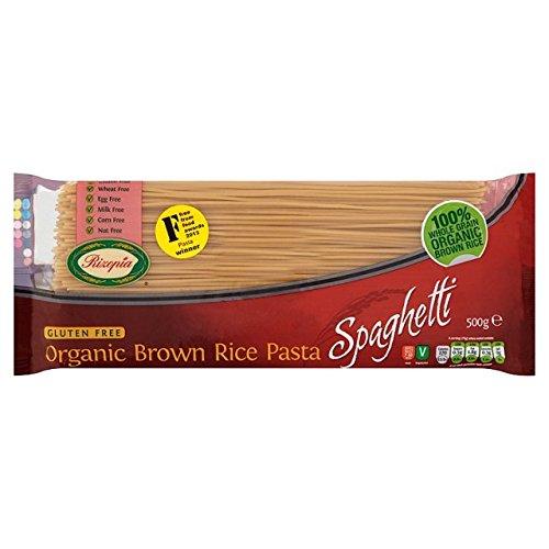 Rizopia Senza Glutine Organico Di Pasta Marrone Spaghetti Di Riso (500g)