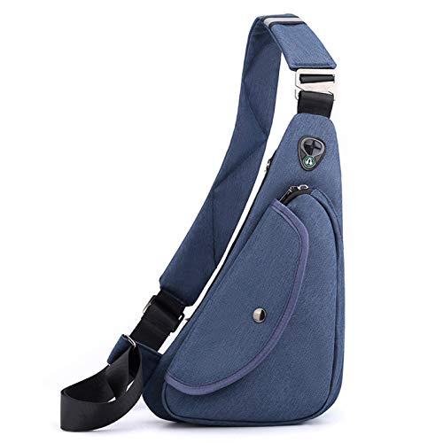 FANDARE Ultraleicht Brusttasche Herren Sling Bag Umhängetaschen Schultertasche Sporttasche Crossbody Bag für Freien Reisen Wandern Hiking Joggen Crosscover Daypacks Blau