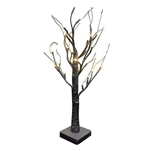 POHOVE Árbol de nieve iluminado con luces LED, funciona con pilas, color blanco cálido, árbol de bonsái, luces de mesa para decoraciones de día festivo/Xmas/fiesta/boda/festival