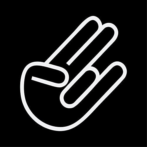 The Shocker Hand Aufkleber JDM Sticker DUB KULT OEM Autoaufkleber (WEISS)