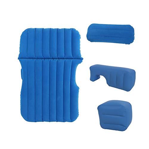 LXUXZ Colchón Inflable ,colchón De Viaje Acolchado Inflable, Colchoneta De Camping Adecuado para Viajes De Campamento (Color : Blue, Size : 136x92cm)