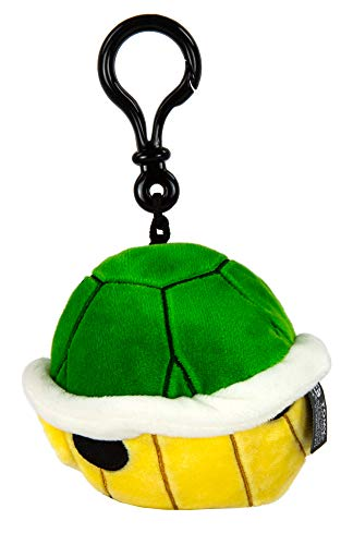 Club Mocchi Mocchi Nintendo Mario Kart Super Soft Clip-On for On The Go Fun - Green Shell