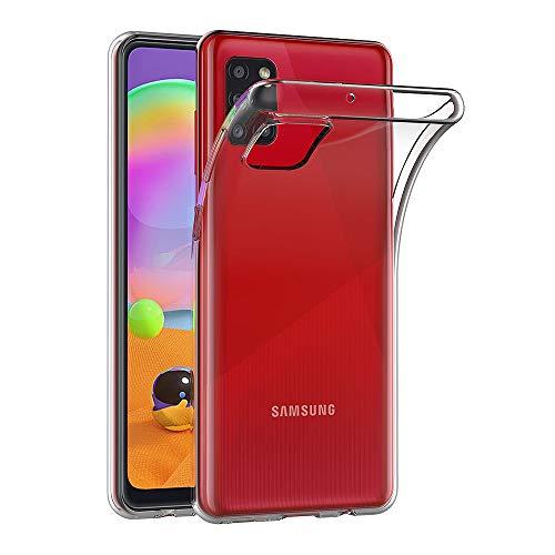 AICEK Hülle Compatible für Samsung Galaxy A31 Transparent Silikon Schutzhülle für Samsung A31 Hülle Clear Durchsichtige TPU Bumper Galaxy A31 Handyhülle (6,4 Zoll)