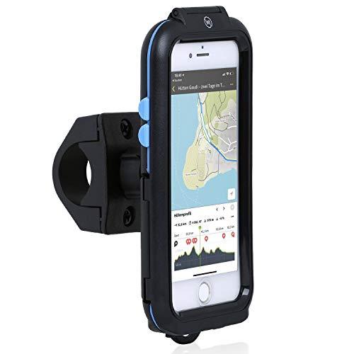 Wicked Chili Tour Case kompatibel mit Apple iPhone SE (2020), 8, 7, 6S, 6 Outdoor Fahrradhalterung Bike Mount - Spritzwasserschutz IPX5, Case und Handyhalterung für Motorrad/Fahrrad Lenker Vorbau