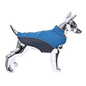 Mile High Life | Waterproof Warm Dog Jacket | Small Dog Jacket Easy Closure Step in | Puppy Coats Reflective Stripe for Nigh Walk | Small Pets