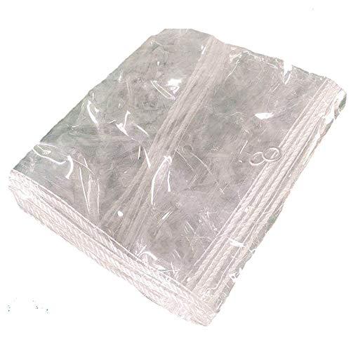 SCAHUN Lona Alquitranada Protección Lona De Protección Resistente A La Lluvia Protección contra La Nieve En Invierno Y Preservación del Calor Balcón Al Aire Libre 0.3 Mm De Espesor,White-3×3.5m