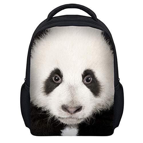 Magibag Animal School Bag 3D Shark Panda Pattern Print Backpack (Panda)