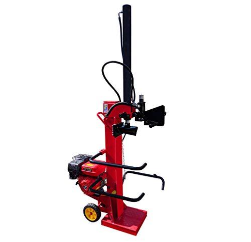CROSSFER Holzspalter HSP13T-G9.0 13 Tonnen Spaltkraft / 104 cm Spaltlänge/Benzinmotor 9 PS 4 Takt OHV luftgekühlt / 2 Hand Bedienung/große Transporträder/hohe Spaltkraft