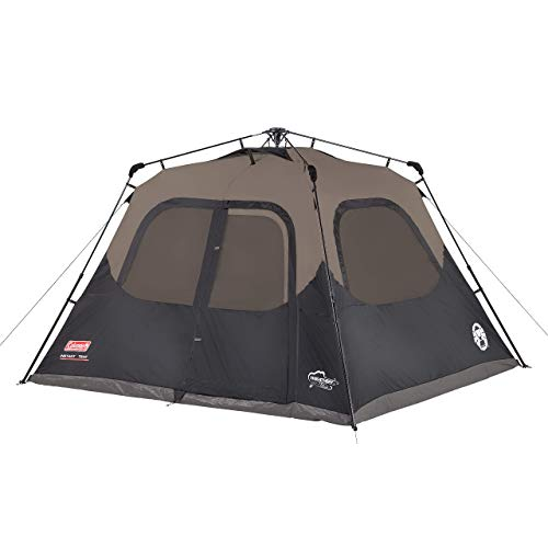 Coleman 6-Person Cabin Tent with Instant Setup | Cabin Tent for Camping Sets Up in 60 Seconds (Renewed)