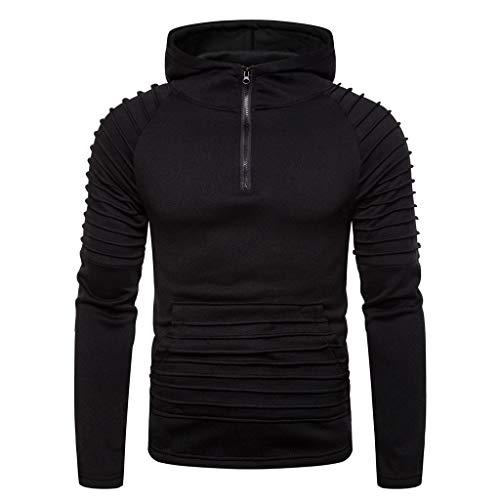 UINGKID Sweatshirt à Capuche Homme GarçOns Slim Fit Striped Manches Longues Pullover Hoodie Mode Respirant Manteau Blouson pour Automne Hiver Noir Bleu Marron M-3XL