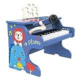 WLP-WF 15 Teclas para Niños Mini Teclado Electrónico Instrumento Musical Juego Educativo Juguete para Niños Piano de Cola Taburete Micrófono Teclado Juguete para Piano (Color: Red, Size: 40X24X40Cm),