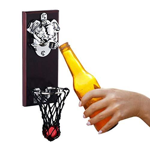 Tartiery - Abridor de botellas de cerveza para vino, de madera, con atrapasubos, duradero, para bar, cocina, hogar, patio