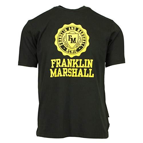 Camiseta Franklin and Marshall Nero da Uomo JM3014.098 - negro - Large